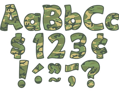Teacher Created Resources Camouflage Funtastic 4-Inch Letter