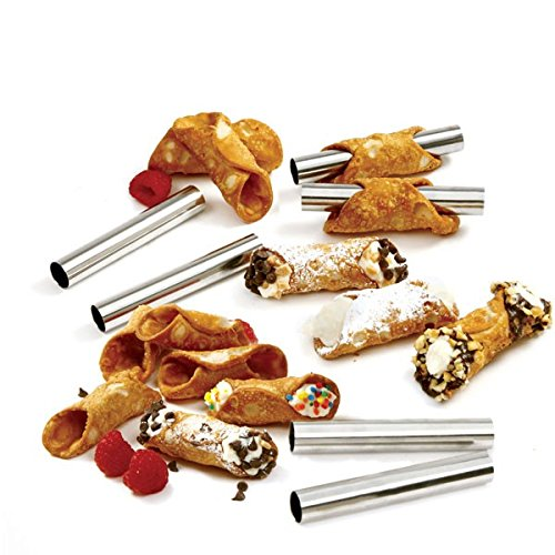 6pc Mini Cannoli Forms, Stainless Steel - Boxed (2)