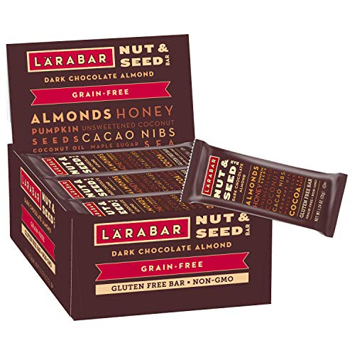 Larabar Crunchy Nut & Seed Gluten Free Bar, Dark Chocolate Almond, 1.24 oz Bars (15 Count)
