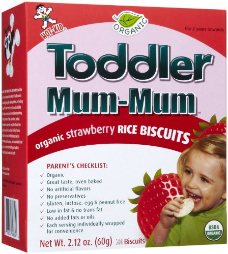 Mum Mum for Toddlers Rice Biscuits - Organic Strawberry - 6 pk
