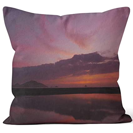 Amazon.com: Scenic view of a sunset with a lake and the ...