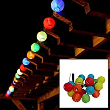 LiteXim Led String Light Waterproof Solar Christmas Lights 19.68ft 6m 30 LED 2 Modes Chinese Lantern Solar String Lights for Outdoor, Gardens, Homes, Wedding, Christmas Party(Purple)
