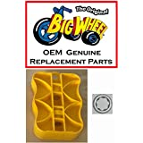 One Yellow PEDAL and WASHER for The Original Big Wheel Spin-Out Racer/ Mighty Wheels, Original Replacement Part