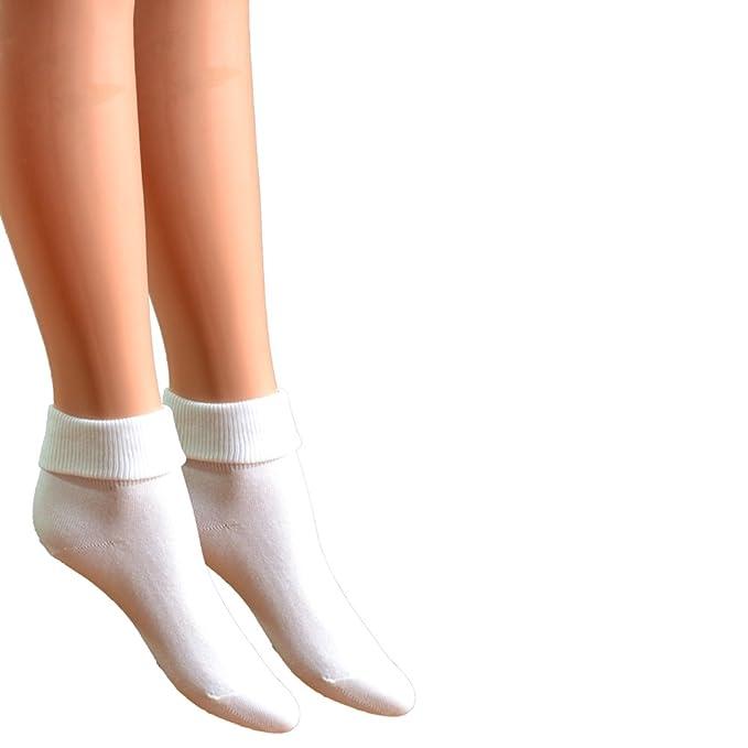 3296493fb8 Fontana Calze, 6 paia di calzini da donna senza elastico 100% cotone mod.  Sanitario