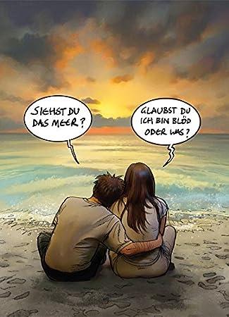 Leser auf dem Meer Michael Sowa Postkarte