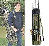 JSHANMEI Fishing Bag Fishing Rod Reel Case Carrier Holder Fishing Pole Storage Bags Fishing Gear Organizer Travel Carry Case Bag