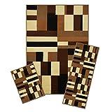 Achim Home Furnishings 3 Piece Capri Rug Set, 5 by 8', Contempo