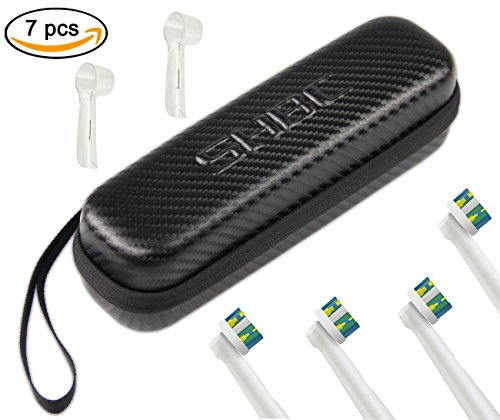 """SHBC Compact Hard travel case"""" NO SMELL"""" Fits Oral-B Pro 1000 Power Rechargeable Electric Toothbrush Water proof carrying bag."""
