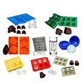 han solo fridge - Star Wars Ice Tray Silicone Trays/Chocolate Molds Baifeng Set of 8 Star Wars:Stormtrooper, Darth Vader, X-Wing Fighter, Millennium Falcon, R2-D2, Han Solo, Boba Fett, and Death Star