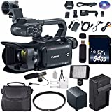 Canon XA30 Professional Camcorder #1004C002 (International Model) + 64GB SDXC Class 10 Memory Card + BP-820 Replacement Lithium Ion Battery + External Rapid Charger Bundle