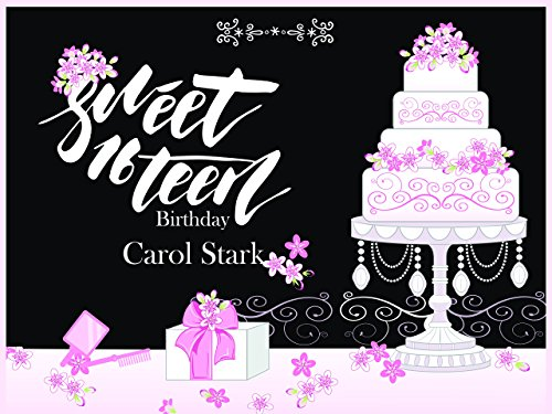 Personalize Girls Sweet 16 Birthday Teenager Pink Cake Party Poster - sizes 36x24, 48x24, 48x36; Personalized Female Sweet sixteen Home Decorations, Handmade Party Supply (Order Cakes And Flowers Online)