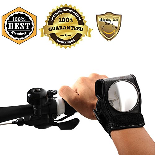 MeanHoo 1 PCS Black Rear View Mirror Bike Wristbands Viewfinder Retroreflector Wrist Guards Bike Bicycle Cycling Rearview Mirror Reflector Cycling Accessories