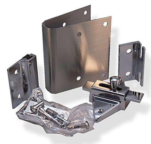 Fix It Latch Kit For Restroom Partitions - For 1'' Curved Edge Doors - Inswing by Young's Catalog