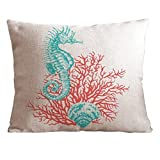 Cotton and Flax Ocean Park Theme Decorative Pillow Cover Case 18