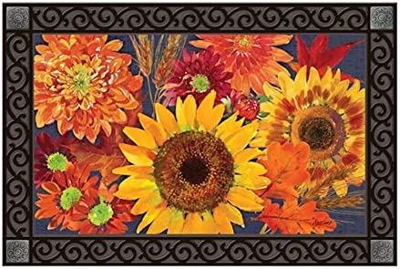 Studio M Autumn Toss MatMate Fall Harvest Flowers Doormat