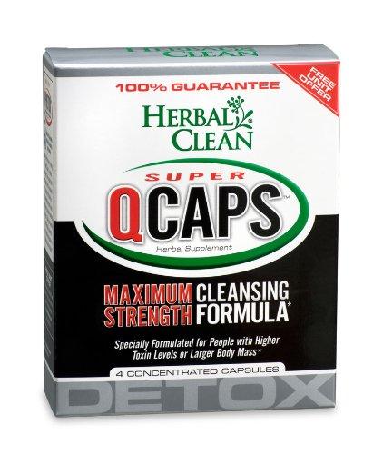 Herbal Clean Super QCaps Maximum Strength Detox - 4 Capsules