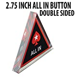2.75 inch Acrylic Double Sided Poker All In Button