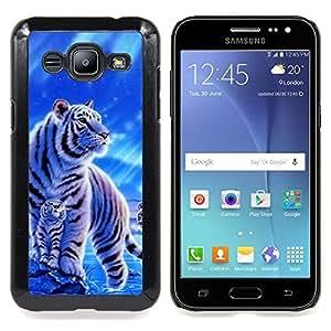 Qstar Arte & diseño plástico duro Fundas Cover Cubre Hard Case Cover para Samsung Galaxy J2 / J200 ( Neve)