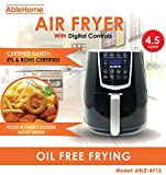 Cheap AbleHome Electric Air Fryer 4.5 Qt 1350 W Digital Timer Temperature Control 8 Presets Oil less