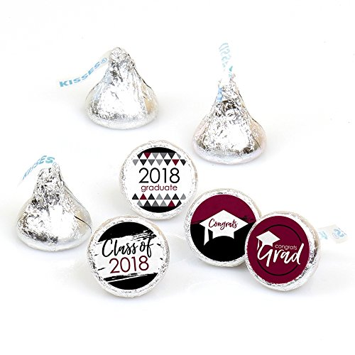 Maroon Grad - Best is Yet to Come - Burgundy 2018 Graduation Party Round Candy Sticker Favors - Labels Fit Hershey's Kisses (1 Sheet of -