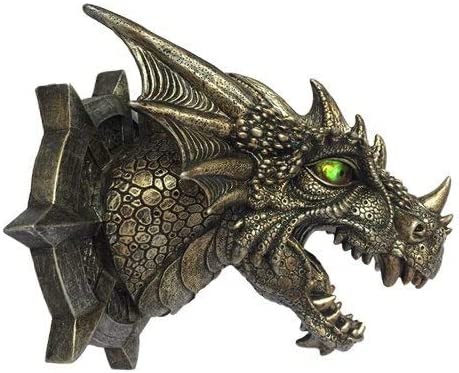 obtenir de nouveaux liquidation à chaud prix raisonnable Dragon Dungeon Wall Plaque With LED Eyes