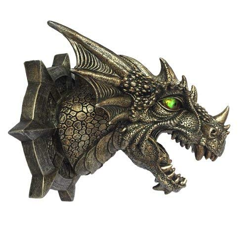Dragon Dungeon Wall Plaque With LED Eyes by Pacific Trading
