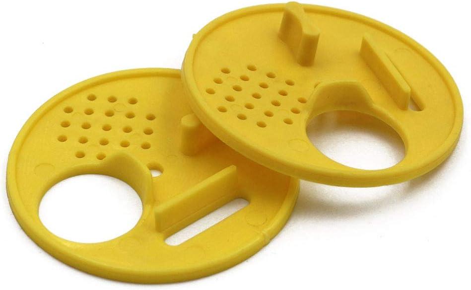 M.Z.A 12 Unidades de Discos de plástico para Entrada de Colmena de Colmena de Abejas, Disco de Entrada de Puerta, Equipo de Apicultura, Herramienta de Colmena