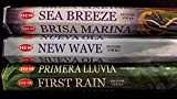 SEA BREEZE New Wave First Rain 60 HEM Incense Sticks 3 Scent Sampler Gift Set