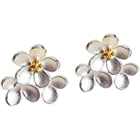 Yonger Fashion Earring Women Lady Charming Daisy Pattern Crystal Stud Elegant Jewellery