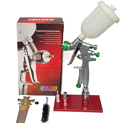 New DEVILLEBS HVLP Mini Repair Mini Gravity feed 1.2mm for Car face painting with 250 cc cup