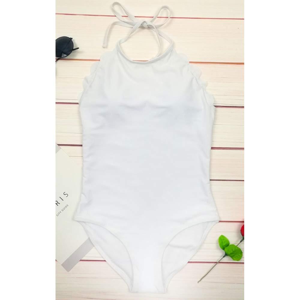 White L NPOWF Push up swimwear Halter Top swiming suit one piece swimsuit