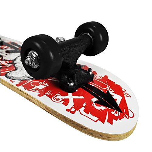 RudeBoyz 17 Inch Mini Wooden Cruiser Graphic Beginner Skateboard (Skull Design) - http://coolthings.us