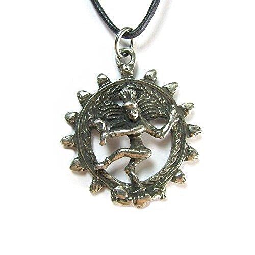Creative Ventures Jewelry Shiva Natraja The Hindu Deity Pendant on Cord Necklace, The Veda Collection
