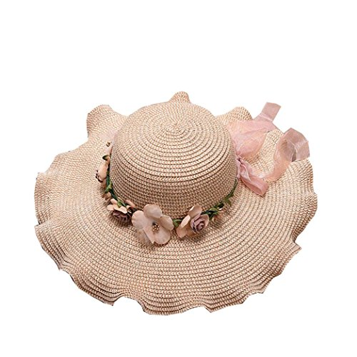 Spbamboo Women Beach Straw Hat Jazz Sunshade Panama Trilby Hat Gangster Cap 2018
