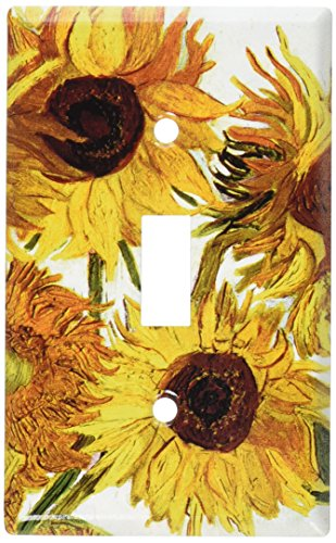 Sunflower Toggle - Art Plates - Van Gogh: Sunflowers Switch Plate - Single Toggle