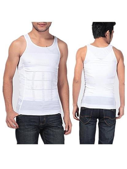 0ba360f91c bulges Shaper Vest Men for Weight Loss Elastic White Body Shaper Corset  Exercise Underwear Body Shaper