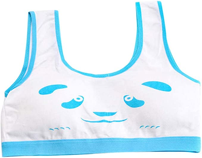 Girls Teenager Bra Cotton Crop Padded Undercloths Tops Mixed Colours