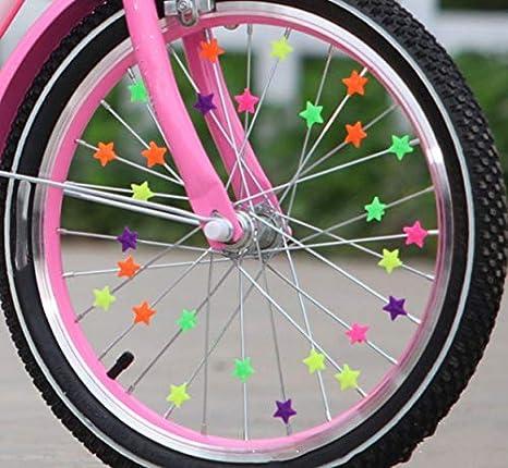 80 estrellas de colores para decoración de radios de bicicleta, 20 ...