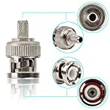 20pcs Solid Core BNC plug Crimp Connector for RG58,RG142,LMR195,RG400 Coax Male