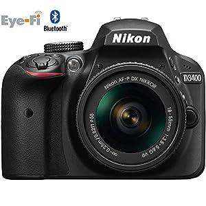 Nikon D3400 24.2 MP DSLR Camera with 18-55mm VR Lens Kit 1571B (Black) - (Certified Refurbished)
