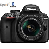 Nikon D3400 24.2 MP DSLR Camera with 18-55mm VR Lens Kit 1571B (Black) - (Certified Refurbished)