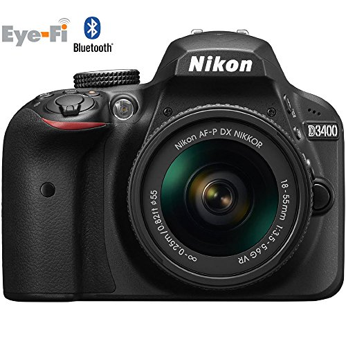 Nikon D3400 24.2 MP DSLR Camera with 18-55mm VR Lens Kit 1571B...