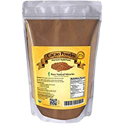 Cacao Powder, Raw Organic Unsweetened Cocoa by Pure Natural Miracles