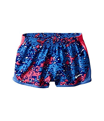 Nike Meisjes Droog Tempo Hardloopshorts Diepe Nacht (26a717-603) / Wit / Roze