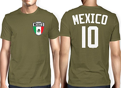 Olive Green Football (Mens Mexico Mexican - Soccer, Football T-shirt (3XL, OLIVE)