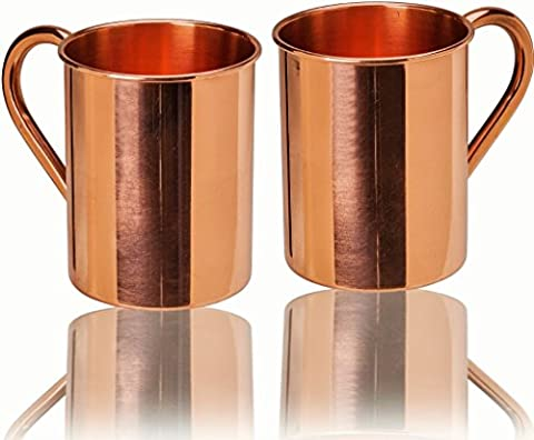 23oz. Jumbo Moscow Mule Copper Mugs - Set of 2 - 100% Solid Copper - Keskov Authentic - Large Handcrafted -No Rivets- Vodka or Tequila - No Inner Lining - Ayurvedic Health (One Direction Huge Posters)