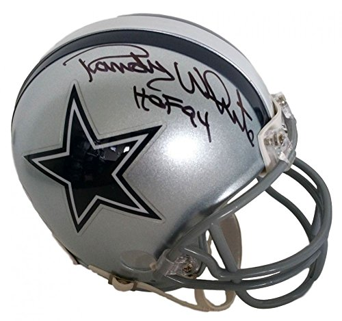 Randy White Autographed Signed Cowboys Mini -Helmet Inscribed HOF 94 Signature - Beckett Authentic