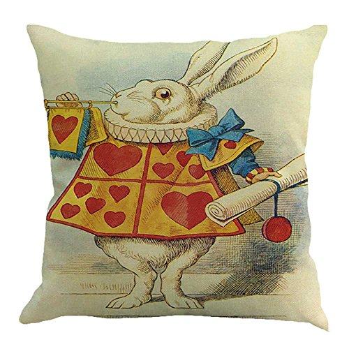 HYIRI Easter Pillowcase Linen Sofa Animal Pattern Cushion Cover Sofa Bed Home Decoration Pillowcase]()