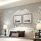 Homdox Bricks Wallpaper, Print Embossed Non-Woven 3D Home Decor Wallpaper for Livingroom, Bedroom, Kitchen and Bathroom