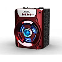 LED Outdoor Subwoofer Portable Bluetooth Speaker 196BT (Red)